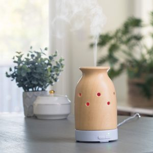 Bamboo electric diffuser